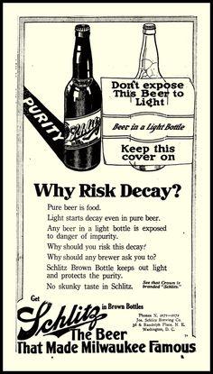 Schlitz Beer, 1914
