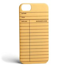 Library Card iPhone 5/5S case |