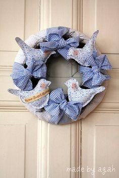 Blue Birds Wreath by made by agah, via Flickr