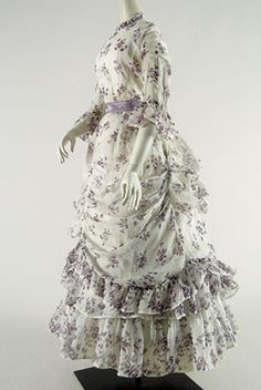 1870s Summer gown from the Cora Ginsburg collection. Beautiful, light and airy.