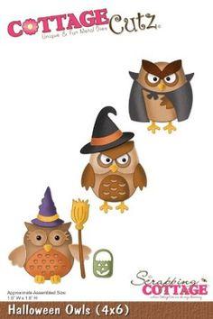 Amazon.com: Halloween Owls // Cottage Cutz: Arts, Crafts & Sewing