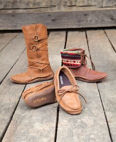 Moccasins for Fall! Durango women's super comfy mocs with a real outsole.