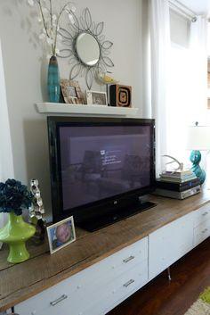 #tv #stand #teal #lime