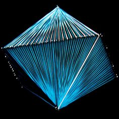 Octahedron craft idea, string art, pull shape