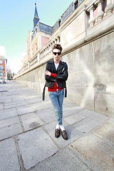 Blogger Pelayo Diaz wearing the Gucci 1953 Horsebit Loafer