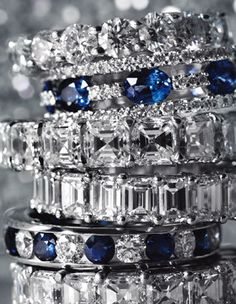 Diamond and Sapphire rings