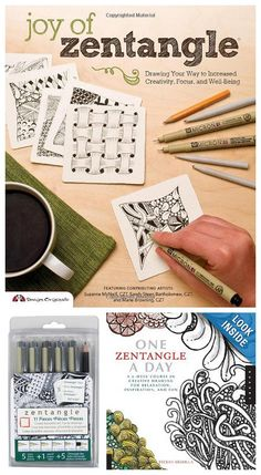 {Zentangled} Have you tried it? What do you think?!?! I am thinking about buying this trio of items... *Includes link to kid's book too.