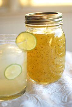 Homemade Key Lime Syrup
