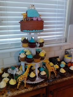 Noah's Ark with cupcakes from Now That's Cake in Colorado