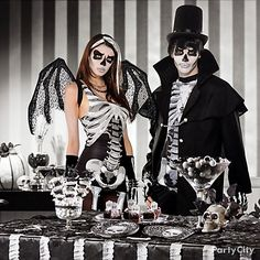 How creepy-cool is that?! *Bad to the bone* skeletal-chic costumes & a ghoulish gathering to match. Eat, drink & be scary!
