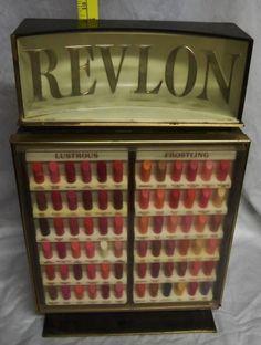 Vintage 60's Revlon Lipstick Makeup Cosmetic Store Display | eBay