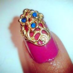 New 2 tier design! Limited edition at NYFW 2013. Will be set with real gems. This one has 3 sapphires!