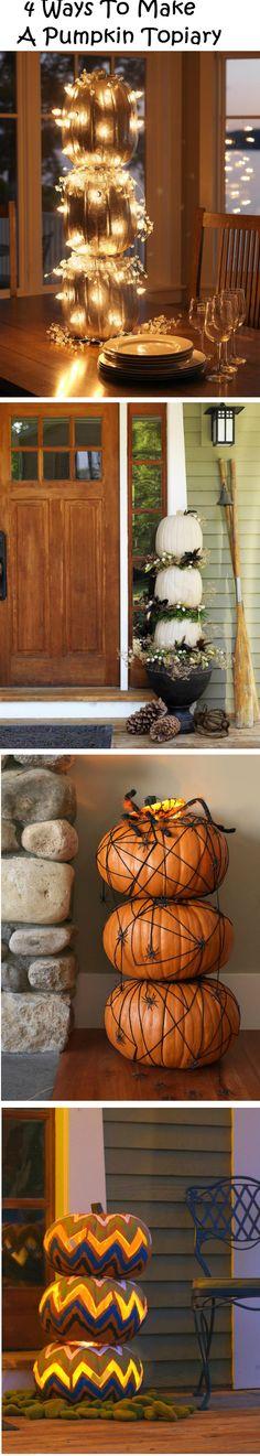 4 Ways To Make A Pumpkin Topiary