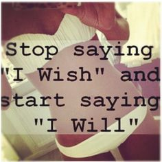 """How about this for a new years resolution? :) 2014, the year of """"I Will"""""""