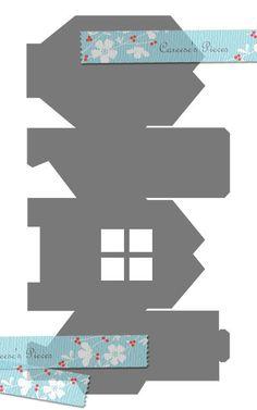 House Gift Box  SVG & PDF Pattern di CareesesPieces su Etsy, $2.00