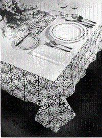 Lace Linen Table Cloth Free Crochet Pattern