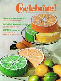 This makes me giggle. It's the cover of a cake decorating magazine from 1974