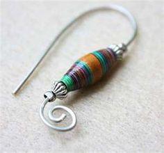 paper bead earings