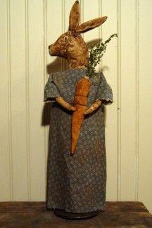 PM51 Primitive Abby Rabbit Make Do Doll Pattern $7.00