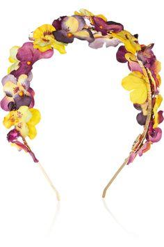 Eugenia Kim Parker paper-flower and crystal headband