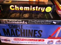 Big Bro's work for chemistry and simple machines...