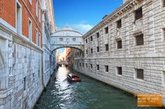 The view from the Bridge of Sighs was the last view of Venice that convicts  saw before they were put in prison.