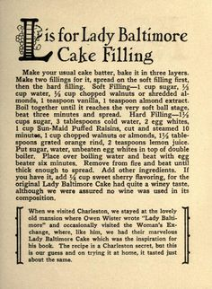 Lady Baltimore Cakes on Pinterest | Cake Recipes, Cake and Cake ...