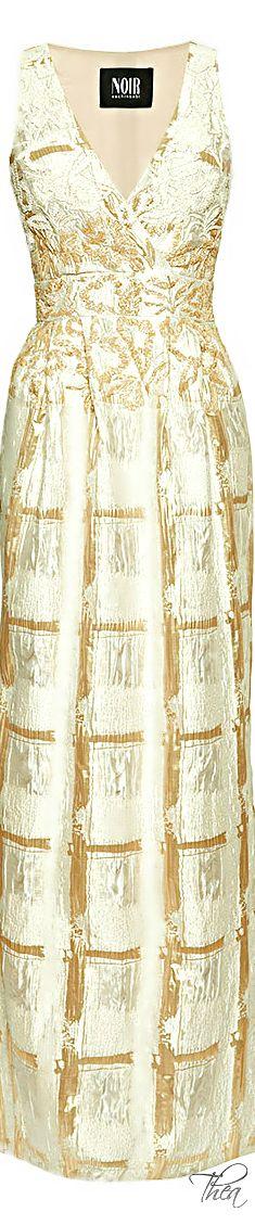 Sachin+Babi ● Resort 2015, Embroidered Foil Brocade Gown