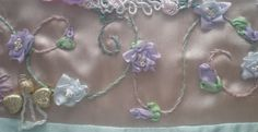 I ❤ crazy quilting & ribbon embroidery . . . roses & swirls on Wendy's block ~By dianesm