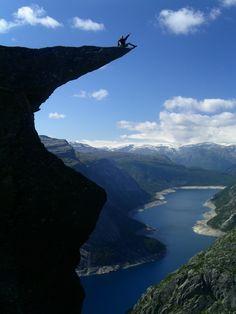 adventur, favorit place, blue, trolltunga, beauti, troll tongu, travel, rocks, norway