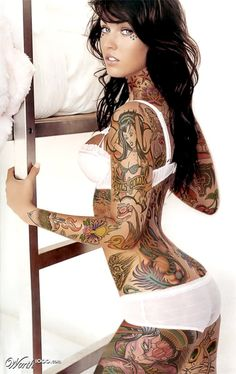 Love what they did with meg lol megan fox, sexi, meganfox, full body, body tattoos, hot, beauti, foxes, tattoo ink