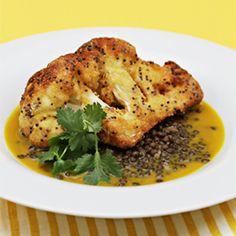 Cornmeal-crusted cauliflower wedges HealthyAperture.com