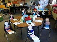 """Did this last yr but the oriental trading cut outs were too big, these look better"""" open house or first day of school activity as an ice breaker"""""""