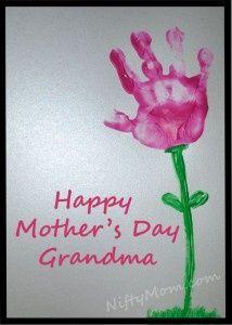 Handprints, cute idea :)