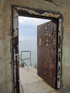 """Alcatraz, aka """"The Rock"""", was first established as a military fort in the 1850s by the US Army. During the Civil War, it became a military prison and in 1934, a federal maximum security prison for high-risk civilian prisoners. Out of 36 inmates attempting to escape, none succeeded. In 1963, due to the inability to restore & maintain it, the prison was closed. San Francisco, CA."""