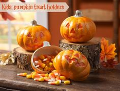 treats, crafti, easi pumpkin, pumpkins, pumpkin treat, kids fall crafts, treat holder, easi kid, fallhalloween