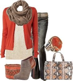 Cute outfit for school in the fall