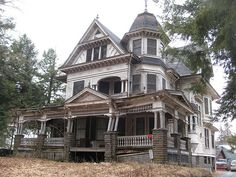 "Old house, located at 75 Depot Street in Fleischmanns, NY. This mansion is a great example of George F. Barber's design no. 37 from ""New Model Dwellings."" It pains me as a restoration specialist to see something so beautiful so neglected."