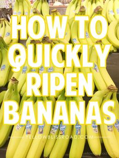 How to quickly ripen