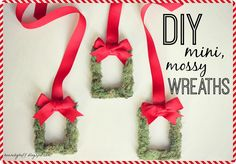 DIY Mini mossy wreaths