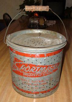 Sportmaster Minnow Bucket ca. 1950.