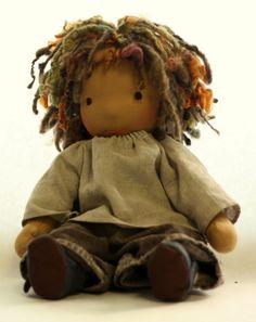 Rhythm- a 16 inch Waldorf boy doll with dreadlocks