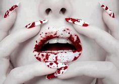 Blood splatter makeup- halloween