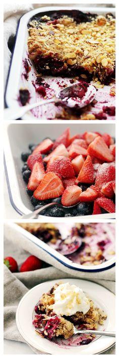 frozen blueberries recipes, strawberri blueberri, pie, blueberri crumbl, blueberri bake