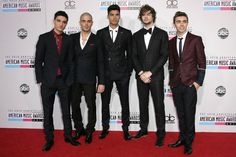 The Wanted pose on the red carpet at the American Music Awards 2012 wearing Tommy Hilfiger