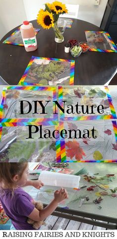 DIY Nature Placemat
