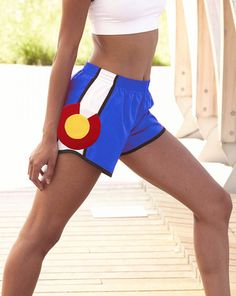 Colorado Flag Women Athletic Shorts