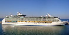 Liberty of the Seas docked in Italy.