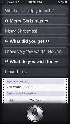 Merry Christmas, Siri