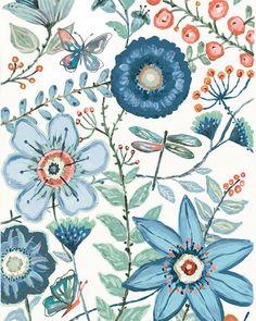Lovely ,fresh floral prints...www.lorisiebertstudio.etsy.com